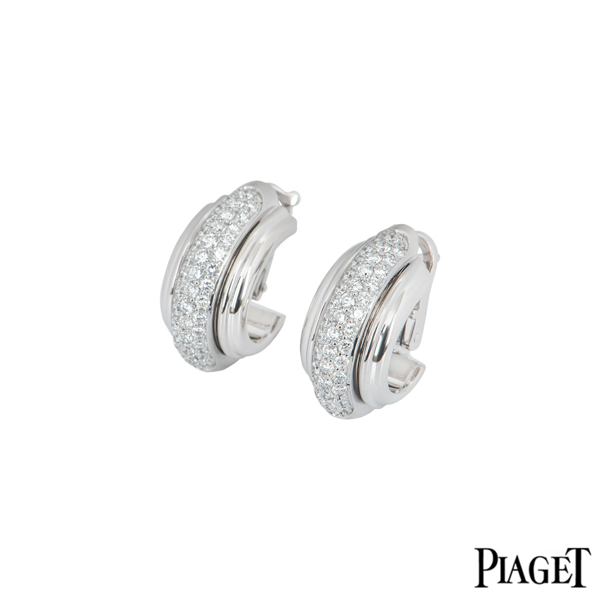 Piaget White Gold Diamond Possession Earrings